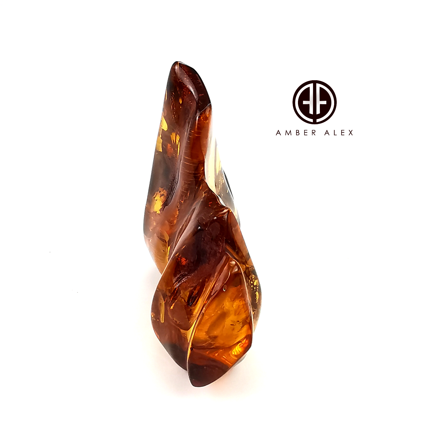 Natural Amber Free Shape Stone With Insects