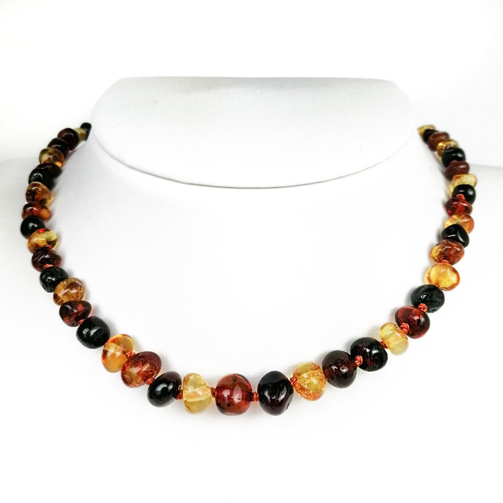 """KIDDO"" Multi-Color Amber Baroque Beads Baby Necklace - Amber Alex Jewelry"