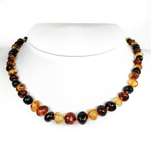 Baltic Amber 3 Colors Baroque Beads Baby Necklace - Amber Alex Jewelry