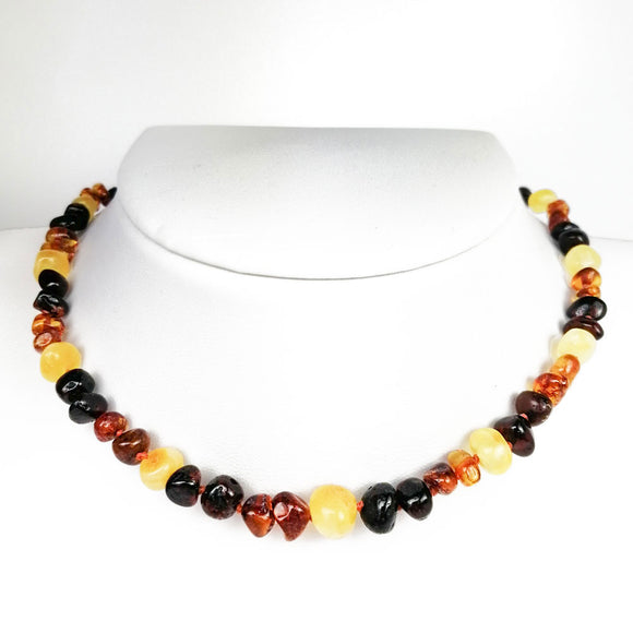 Baltic Amber Baroque Beads 3 Colors Baby Necklace - Amber Alex Jewelry