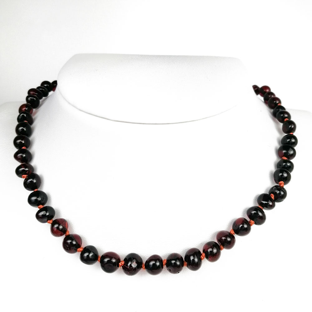 """KIDDO"" Cherry Amber Baroque Beads Baby Necklace - Amber Alex Jewelry"