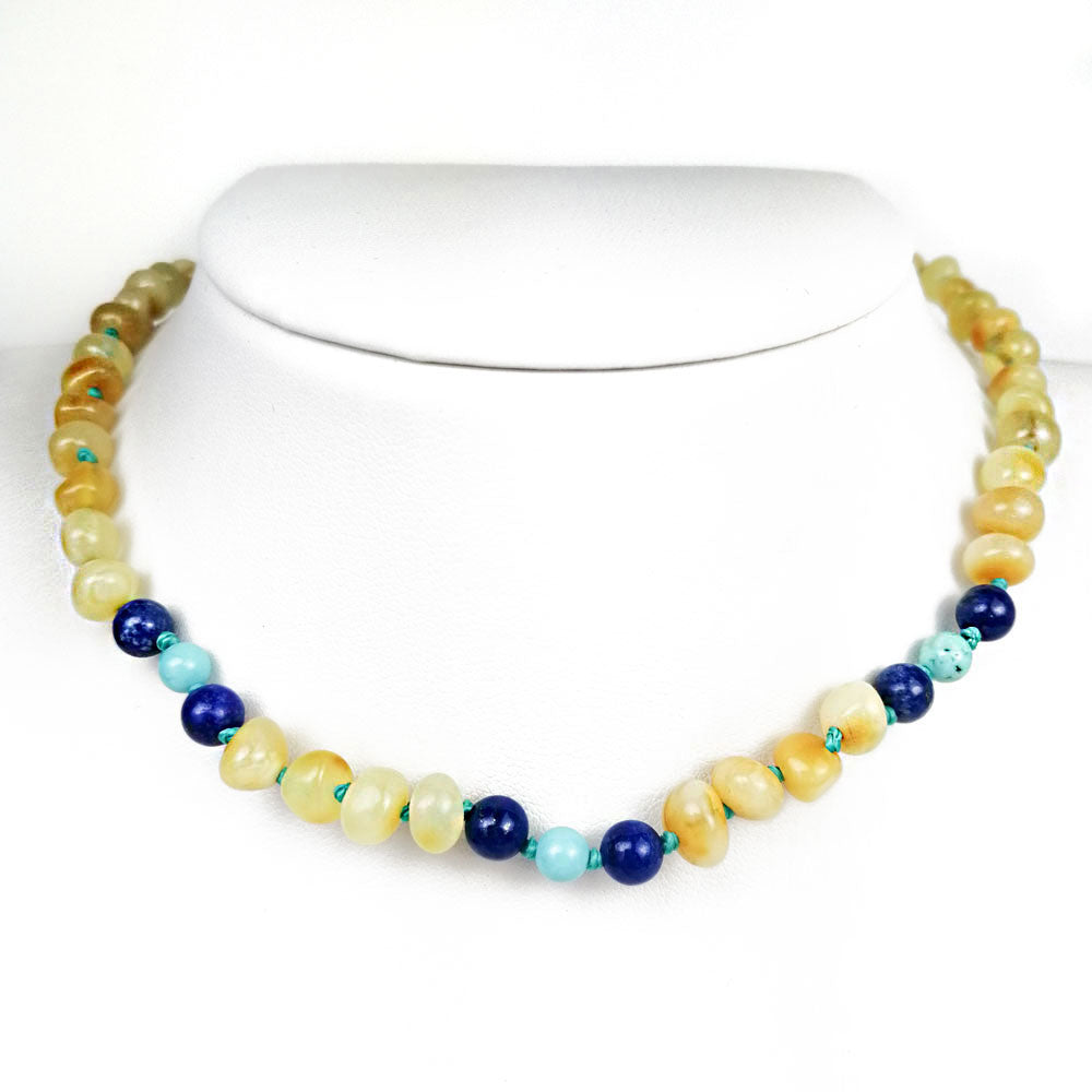 """KIDDO"" Milky Amber Baroque Beads Baby Necklace - Amber Alex Jewelry"