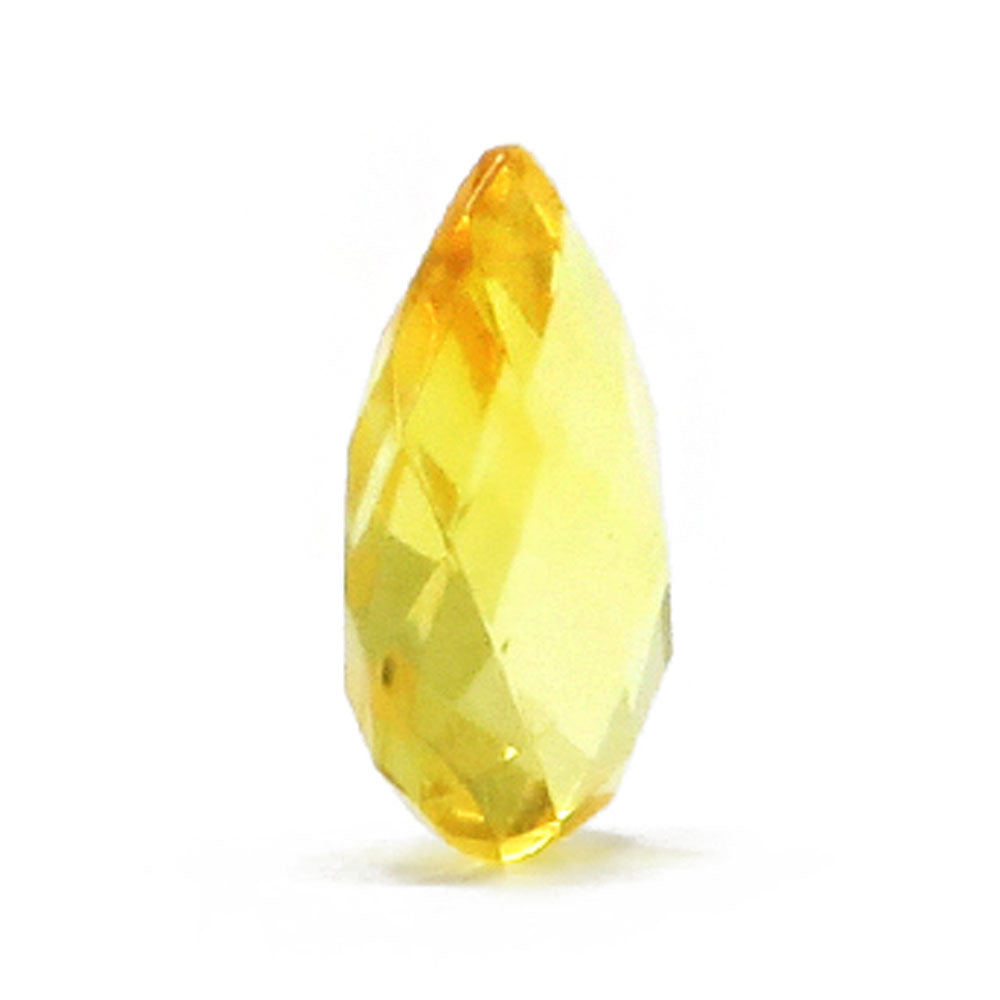 Lemon Amber Faceted Teardrop Stone - Amber Alex Jewelry