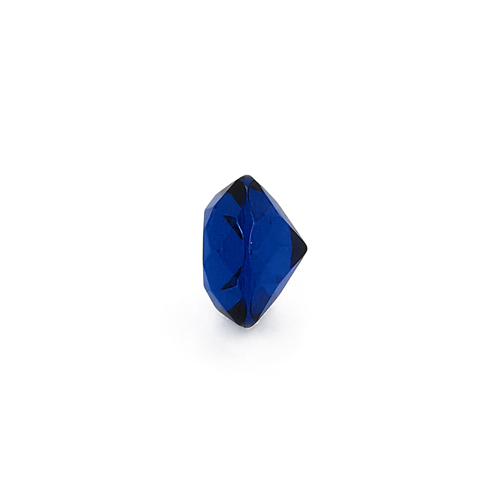 Blue Amber Faceted Round Diamond Cut Stone