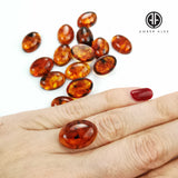 Cognac Amber Calibrated Oval Cabochons