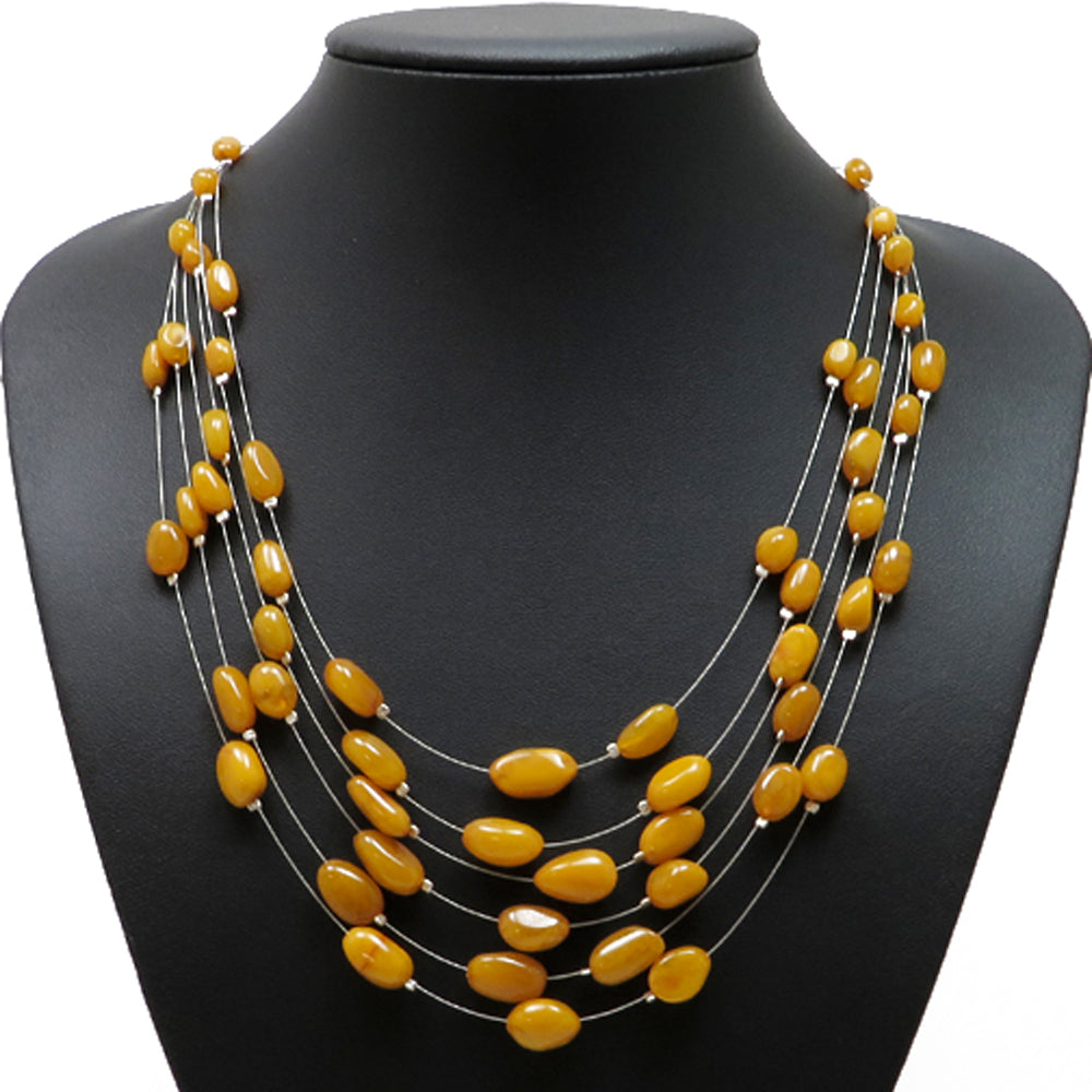 Antique Amber Rain Necklace - Amber Alex Jewelry