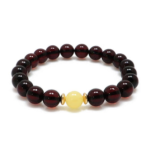 Baltic amber cherry & mat color  bracelet