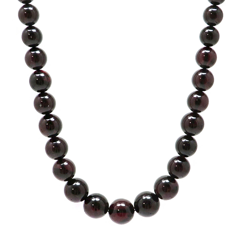 Cherry Amber Round Beads Necklace - Amber Alex Jewelry