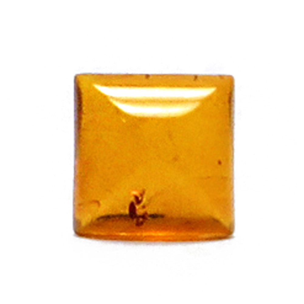 Cognac Amber Calibrated Square Cabochon - Amber Alex Jewelry
