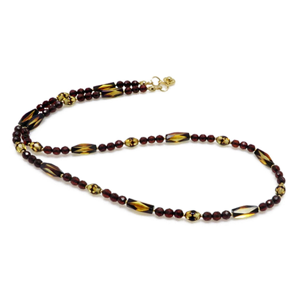 Faceted Amber Beads Necklace - Amber Alex Jewelry