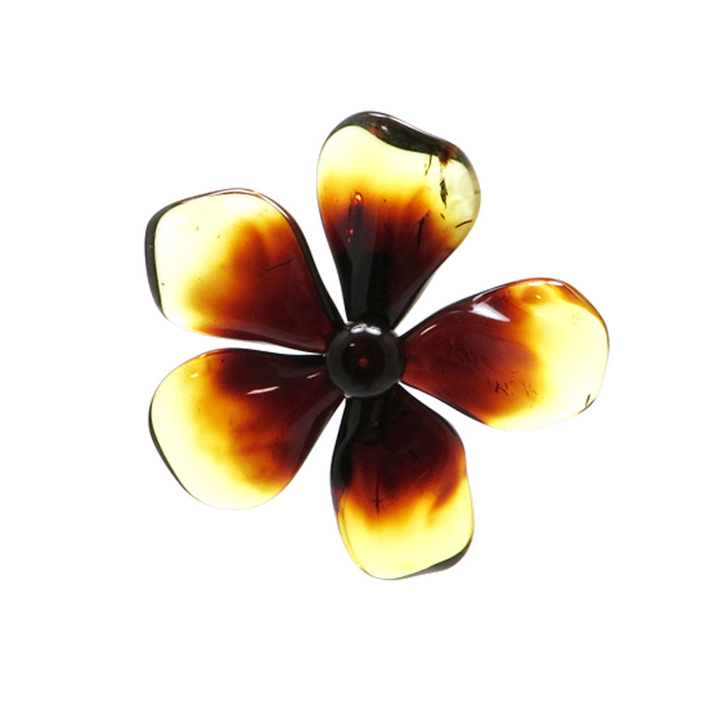Gradient Amber Flower Brooch - Pendant - Amber Alex Jewelry