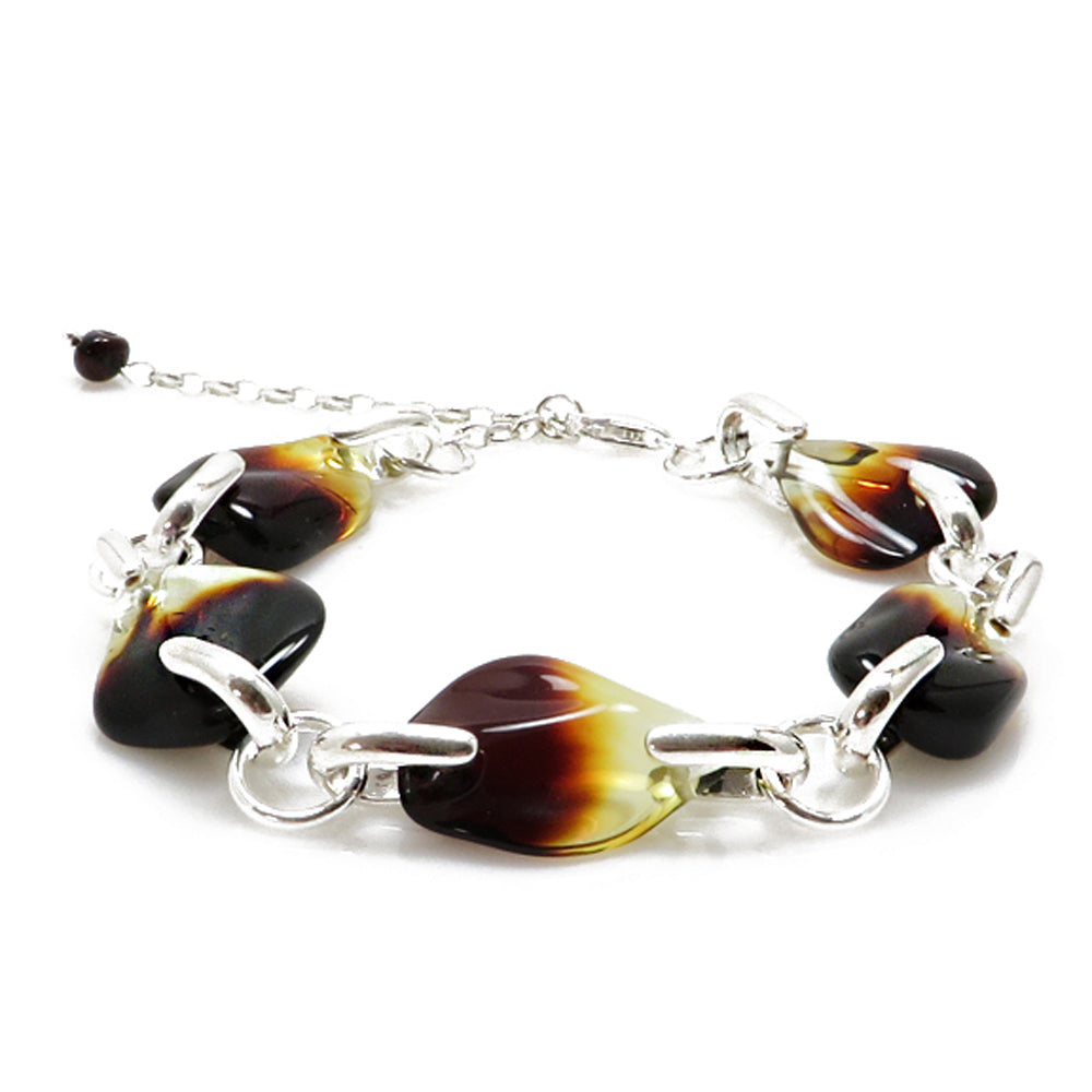 Gradient Amber Stones Bracelet Sterling Silver - Amber Alex Jewelry