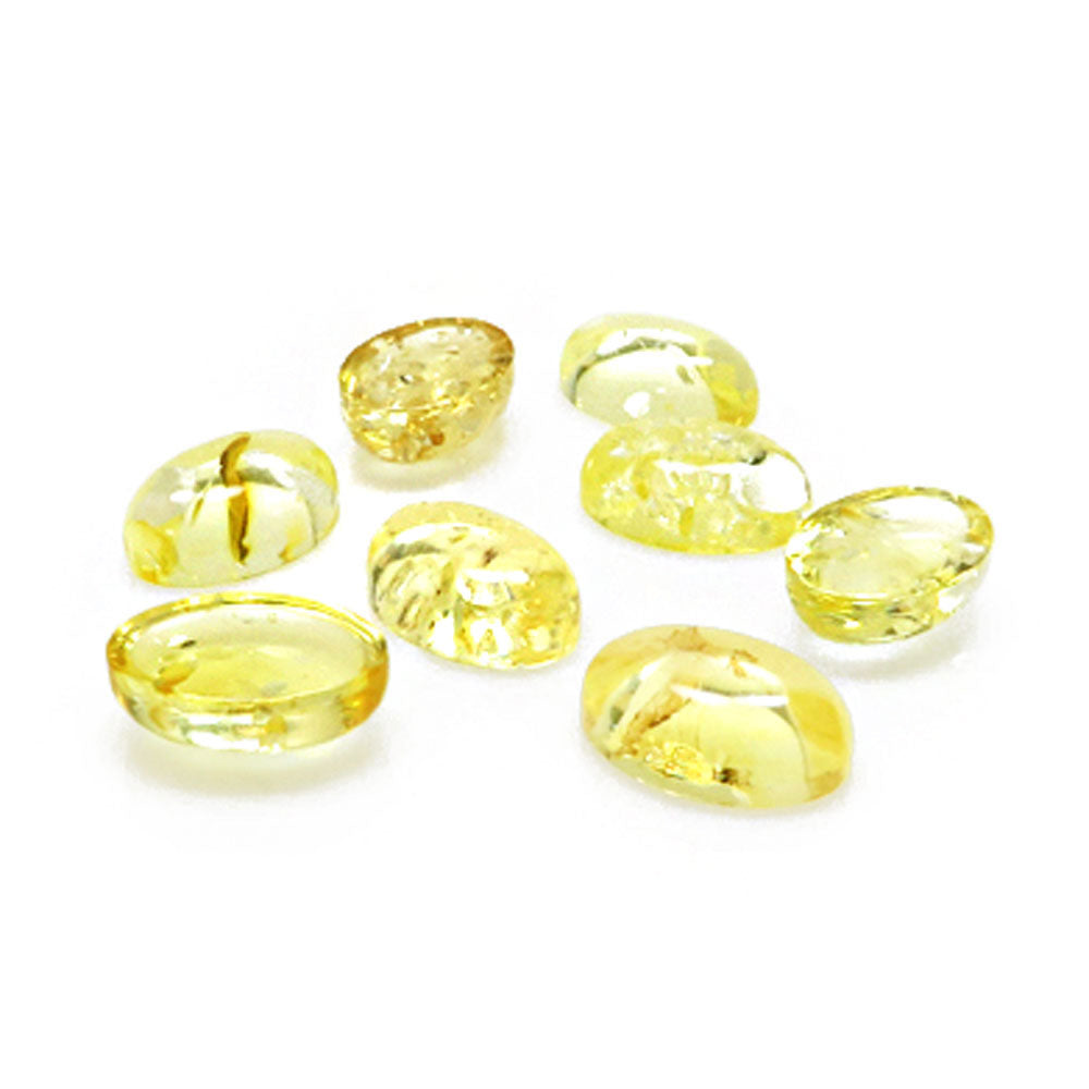 Lemon Amber Calibrated Oval Cabochons - Amber Alex Jewelry