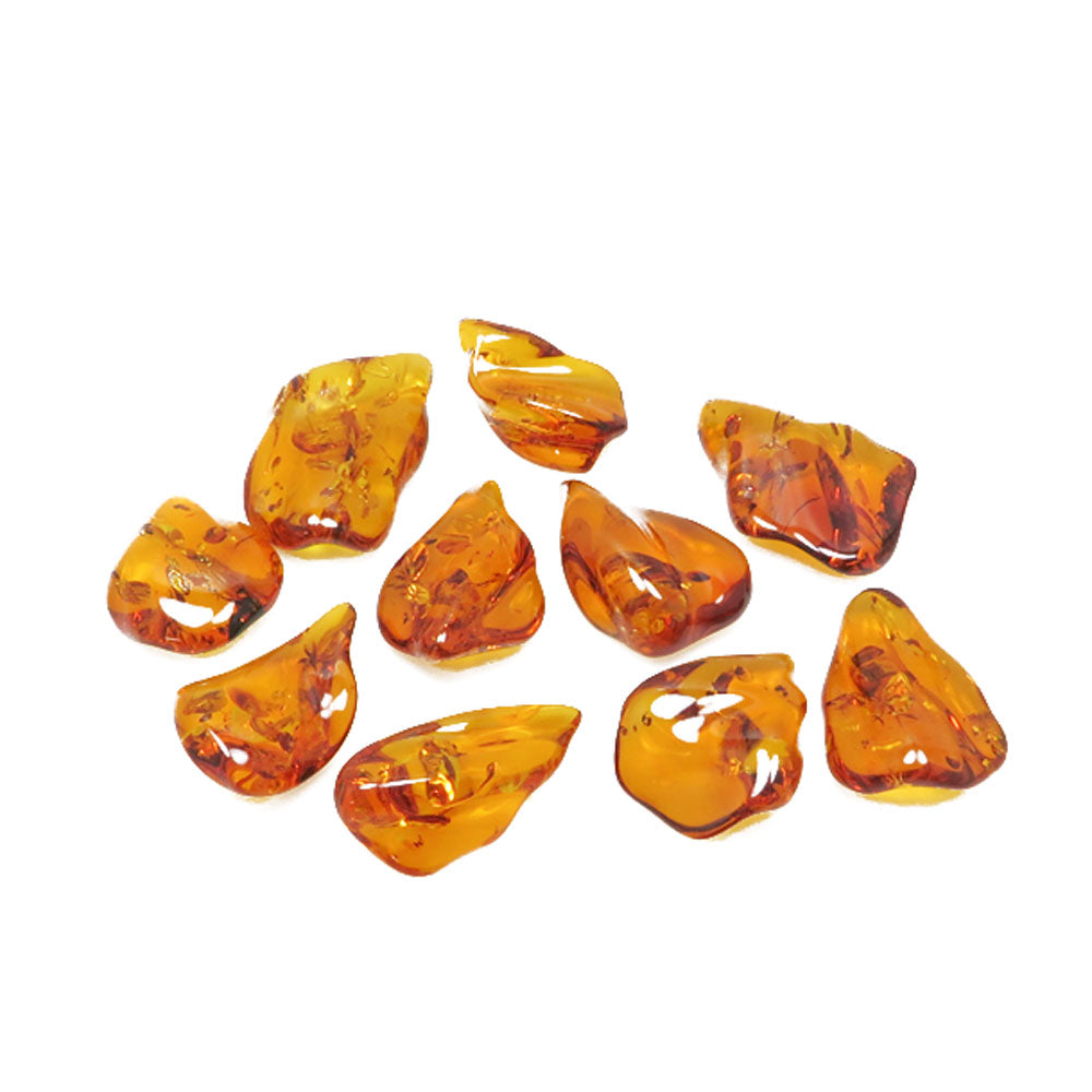 Cognac Amber Wave Shape Stone - Amber Alex Jewelry