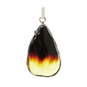 Gradient Amber Wave Pendant Sterling Silver