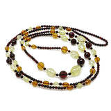 Multi-Color Amber Beads Necklace - Amber Alex Jewelry