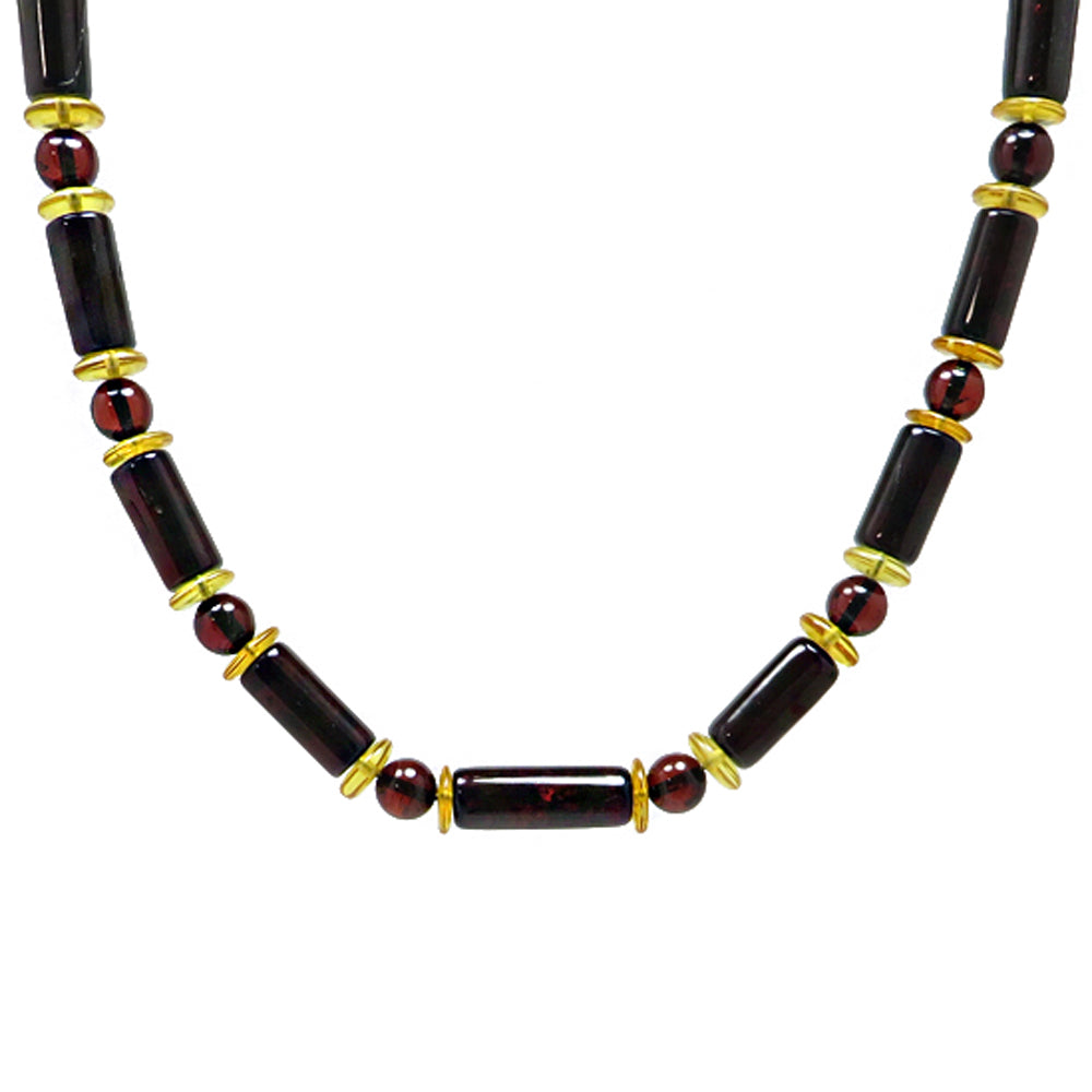 Men's Multi-Color Beads Necklace - Amber Alex Jewelry