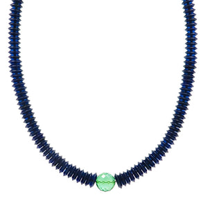 Blue & Green Amber Beads Necklace - Amber Alex Jewelry