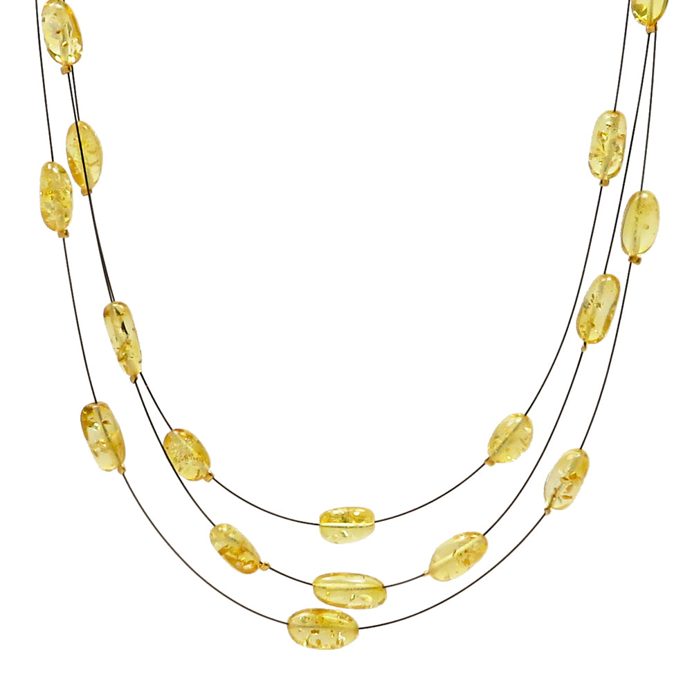Lemon Amber Rain Necklace - Amber Alex Jewelry