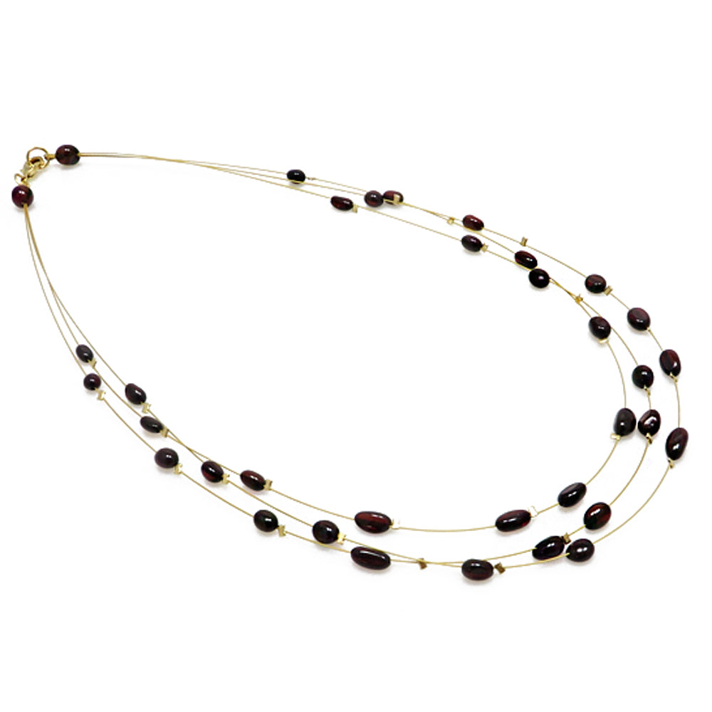 Cherry Amber Rain Necklace - Amber Alex Jewelry