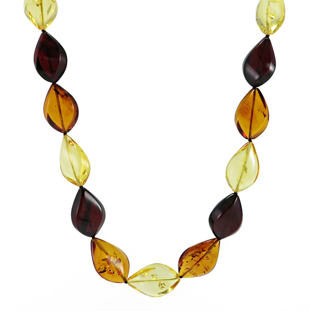 Multi-Color Amber Flame Necklace - Amber Alex Jewelry