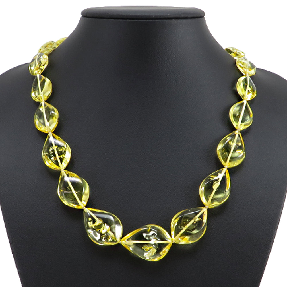 Lemon Amber Flame Necklace - Amber Alex Jewelry