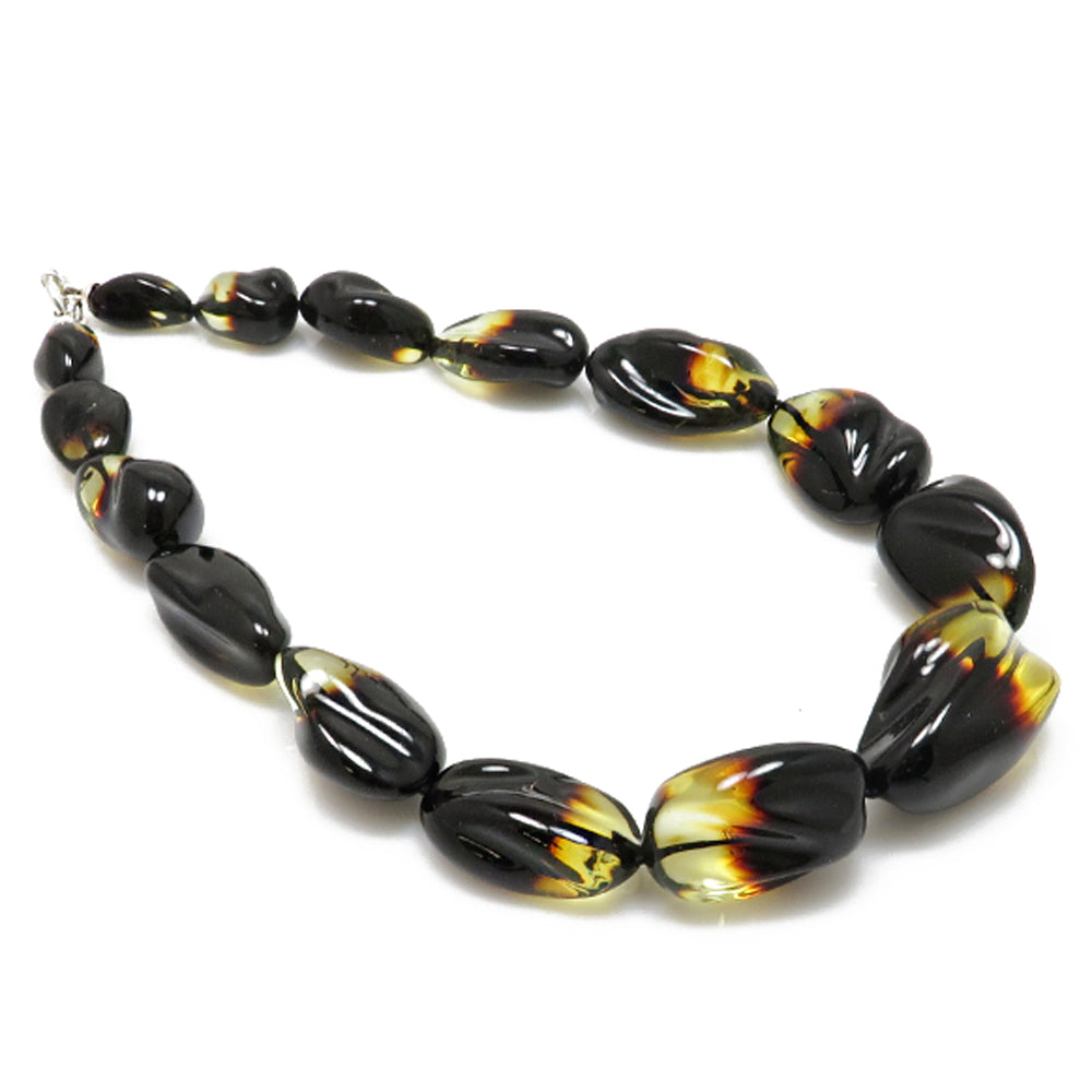 Gradient Amber Free Shape Beads Necklace - Amber Alex Jewelry