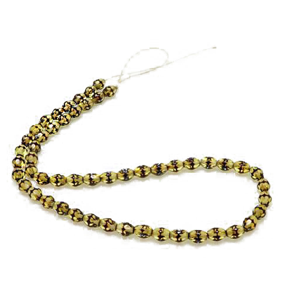 Amber 2-toned Olive Faceted Beads - Amber Alex Jewelry
