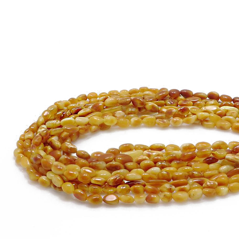 Antique Amber Nuggets Strand - Amber Alex Jewelry