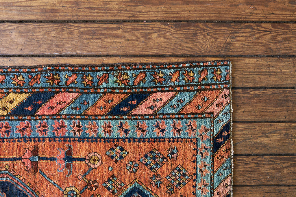 A vintage Turkish rug