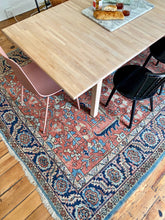 Load image into Gallery viewer, Tables and Chairs on Antique Heriz Serapi area rug