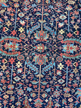Load image into Gallery viewer, colorful vintage Persian Heriz Serapi rug