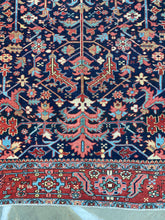 Load image into Gallery viewer, Large vintage Persian Heriz Serapi Rug