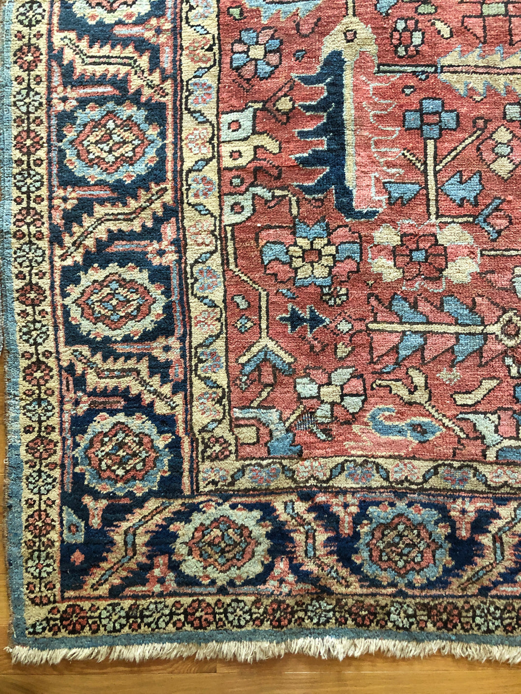 Antique Heriz Serapi area rug