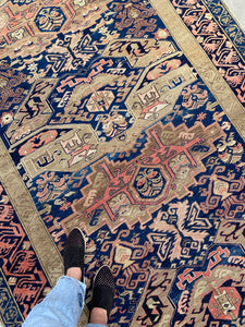 standing on Antique Caucasian Zekhur Kuba
