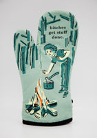 Bitches Get Stuff Done - Blue Q Oven Mitt