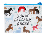 You're Basically Broke - Blue Q Coin Purse
