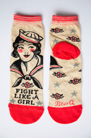 Fight Like A Girl - Blue Q Women's Ankle Socks