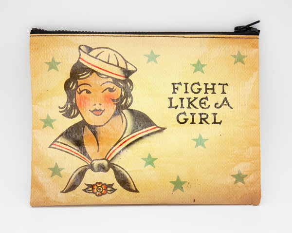 Fight Like A Girl - Blue Q Zipper Pouch