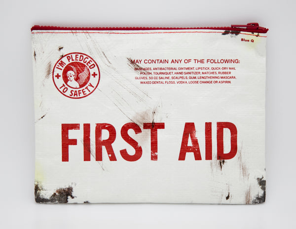 First Aid - Blue Q Zipper Pouch