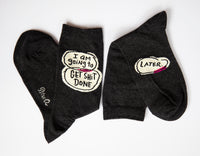 I Am Going To Get Shit Done ... Later - Blue Q Women's Crew Socks