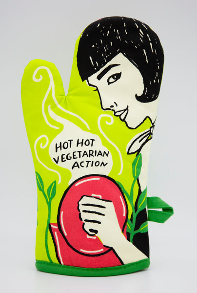 Hot, Hot Vegetarian Action - Blue Q Oven Mitt