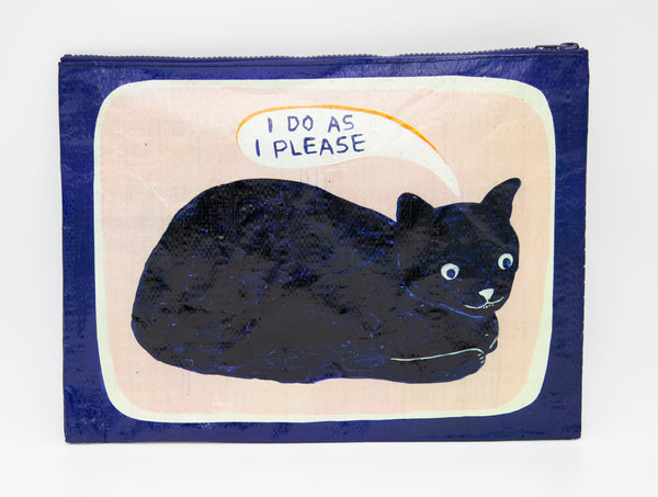 I Do As I Please - Blue Q Jumbo Pouch