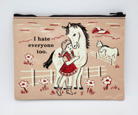I Hate Everyone Too - Blue Q Zipper Pouch