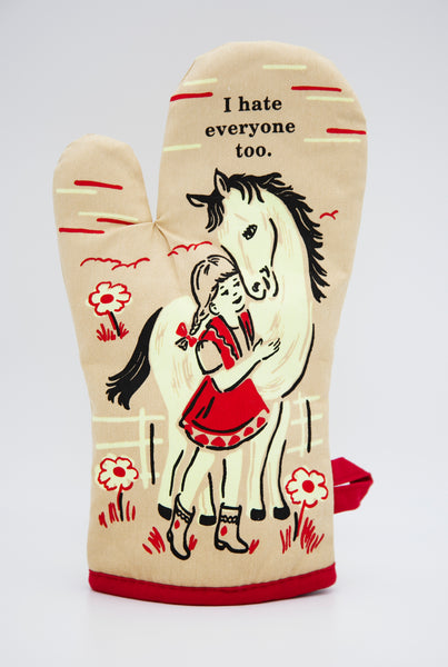 I Hate Everyone Too - Blue Q Oven Mitt