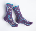 I Love My Job, Ha Ha, Just Kidding - Blue Q Women's Crew Socks