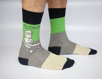 Mr. Fix It - Blue Q Men's Crew Socks