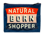 Natural Born Shopper - Blue Q Coin Purse
