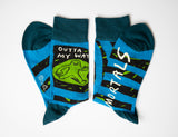 Outta My Way Mortals - Blue Q Men's Crew Socks