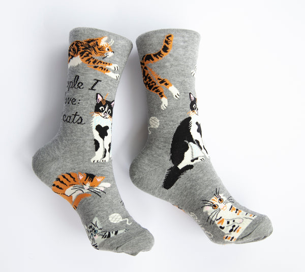 People I Love: Cats - Blue Q Women's Crew Socks